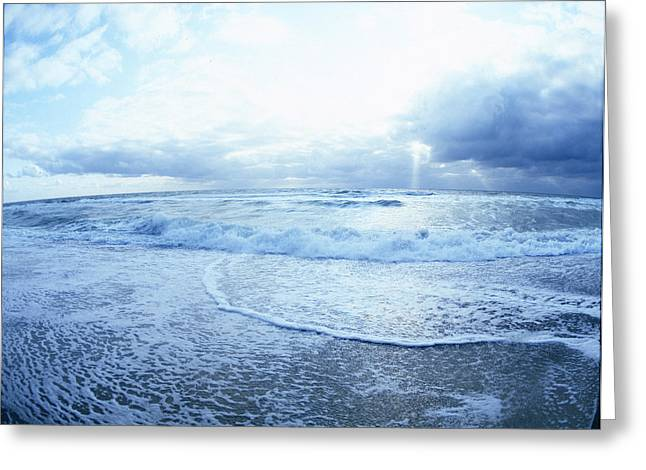 Atlantic On The Rise Greeting Card by Jan W Faul