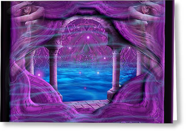Greeting Card featuring the digital art Atlantis - Fantasy Art By Giada Rossi by Giada Rossi