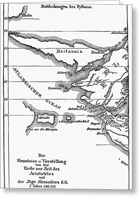 Atlantis Map, 1831 Greeting Card