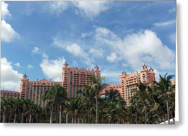 Atlantis Resort At Paradise Island Greeting Card by Teresa Schomig