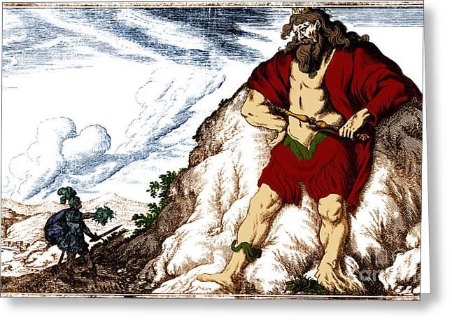 Atlas And Perseus, Greek Mythology Greeting Card