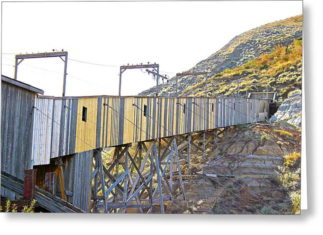 Atlas Coal Mine Fall Greeting Card by Brian Sereda