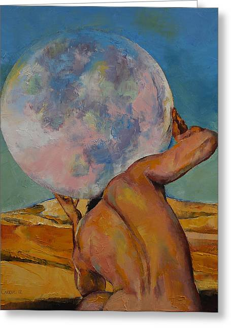 Atlas Greeting Card by Michael Creese