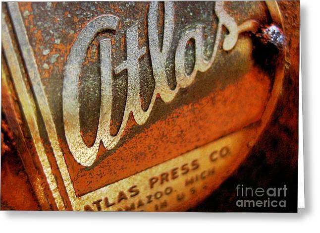 Atlas Press - No.96782 Greeting Card by Joe Finney