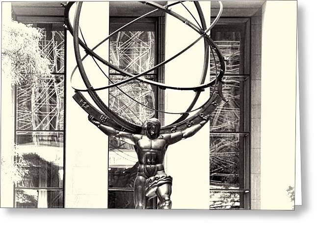 Atlas Statue Greeting Card