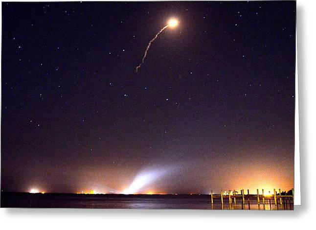 Atlas V Launch From Nyny Greeting Card by AnnaJo Vahle