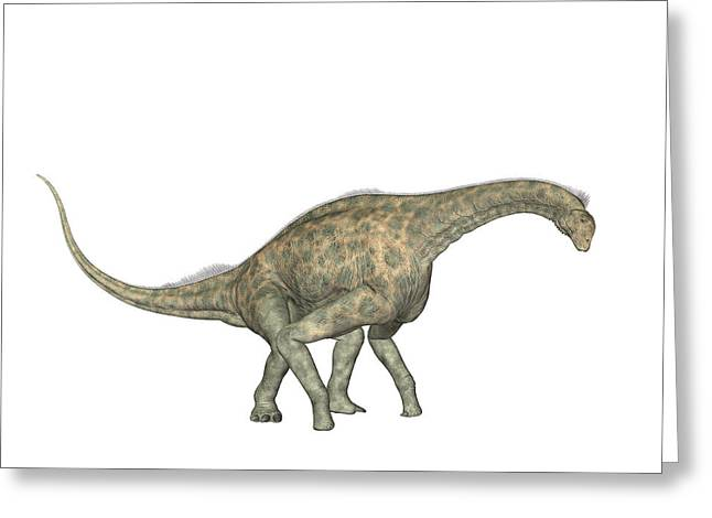 Atlasaurus Dinosaur Greeting Card