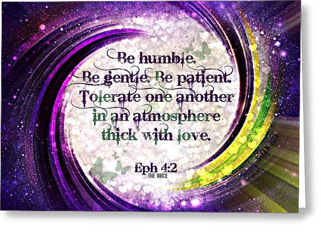 Atmosphere Of Love Ephesians 4 2 Greeting Card