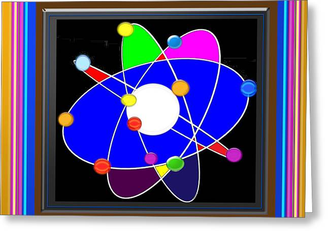 Atom Science Progress Buy Faa Print Products Or Down Load For Self Printing Navin Joshi Rights Manag Greeting Card by Navin Joshi