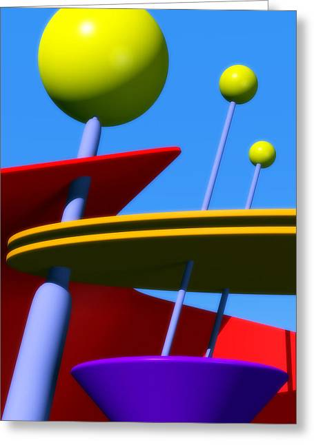 Atomic Dream Greeting Card by Richard Rizzo