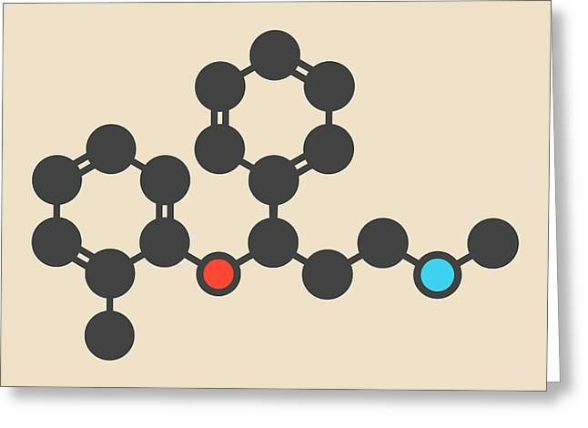 Atomoxetine Adhd Drug Molecule Greeting Card by Molekuul