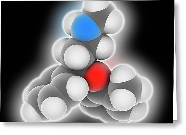 Atomoxetine Drug Molecule Greeting Card