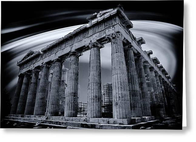 Atop The Acropolis Greeting Card by Micah Goff