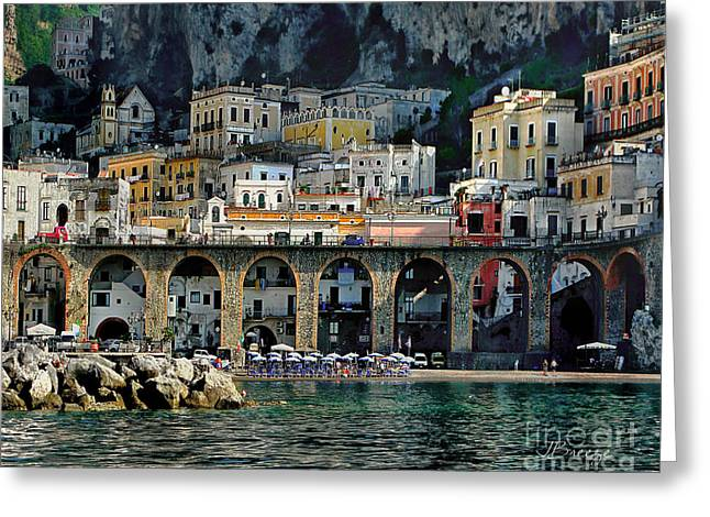 Atrani. Amalfi Coast Greeting Card by Jennie Breeze