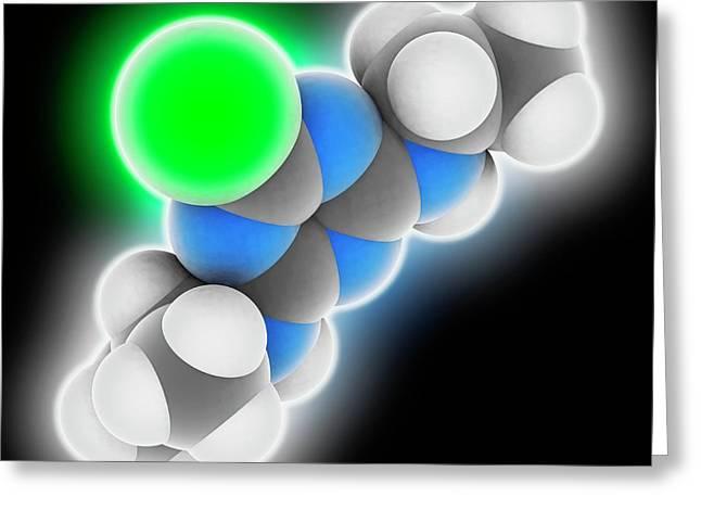 Atrazine Herbicide Molecule Greeting Card by Laguna Design