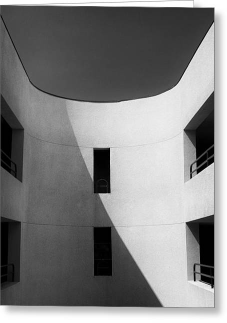 Atrium Bw Palm Springs Greeting Card by William Dey