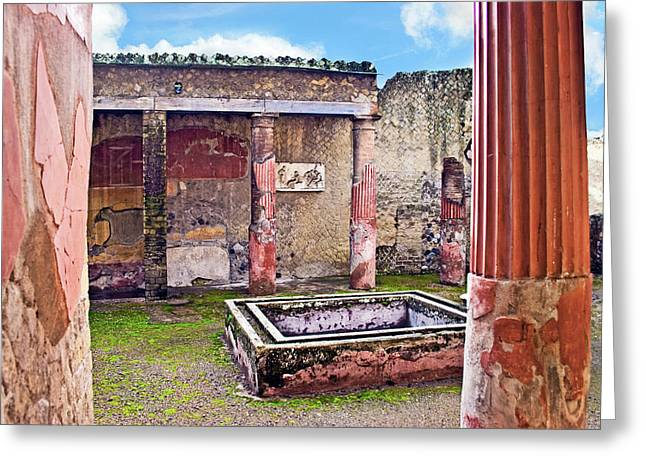 Atrium (courtyard Greeting Card by Miva Stock