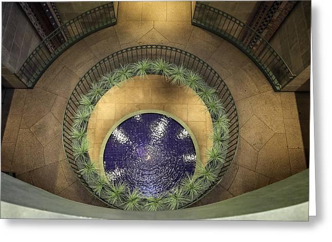 Atrium Wishing Well Greeting Card by Lynn Palmer