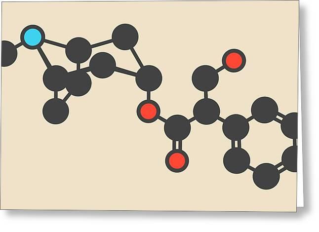Atropine Drug Molecule Greeting Card by Molekuul