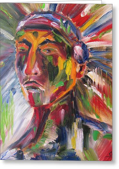 Atsila, Native American Greeting Card