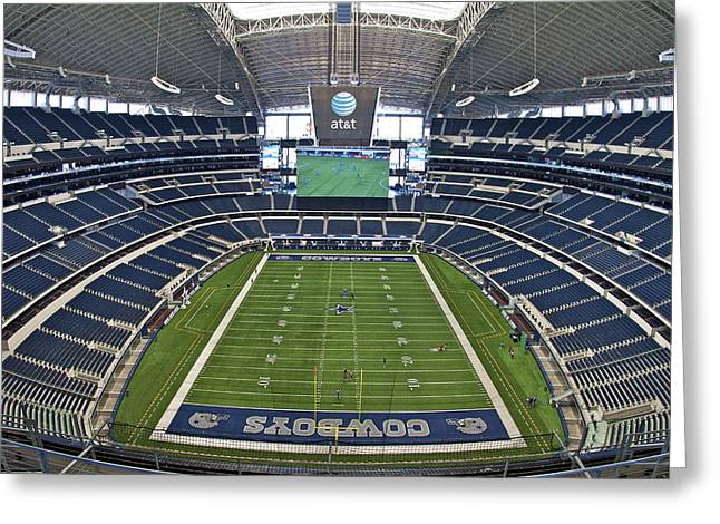 Att Or Cowboy Stadium Greeting Card by John Babis
