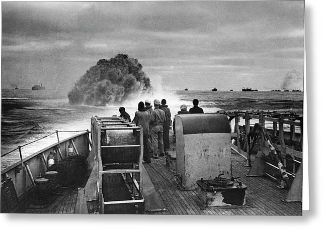 Attack On German Submarine U-175 Greeting Card by Us Coast Guard