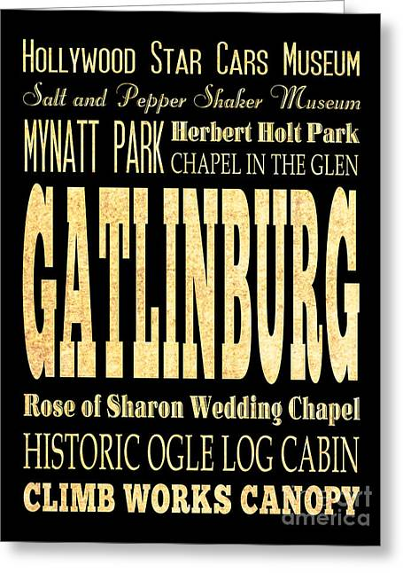 Attraction And Famous Places Of Gatlinburg Tennessee Greeting Card