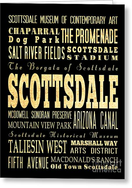 Attraction And Famous Places Of Scottsdale Georgia Greeting Card by Joy House Studio