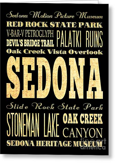 Attraction And Famous Places Of Sedona Arizona Greeting Card