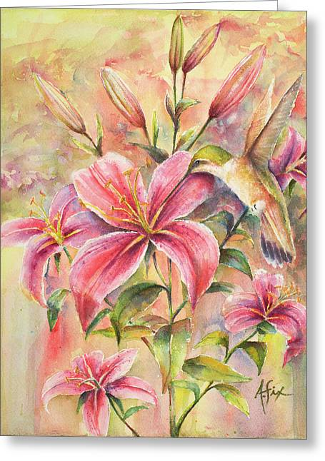 Attractive Fragrance Greeting Card by Arthur Fix