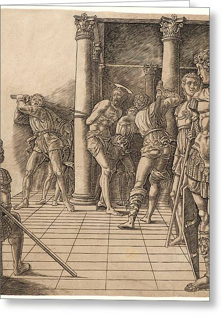 Attributed To Andrea Mantegna Italian, Ca. 1431 - 1506 Greeting Card by Litz Collection