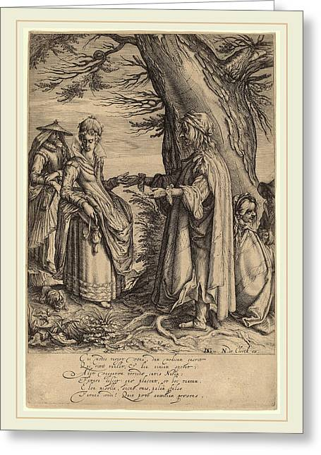 Attributed To Andries Jacobsz Stock After Jacques De Gheyn Greeting Card by Litz Collection