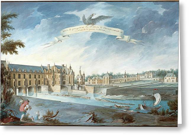Attributed To Nicolas Marie Ozanne, French 1728-1811 Greeting Card