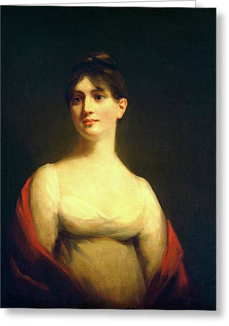 Attributed To Sir Henry Raeburn, Miss Davidson Reid Greeting Card by Litz Collection