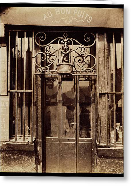 Au Bon Puits, Rue Michel Le Conte, 36 IIie Eugène Atget Greeting Card by Litz Collection