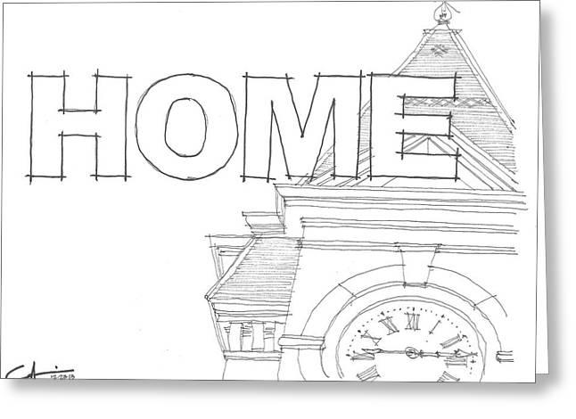 Au Home Greeting Card by Calvin Durham