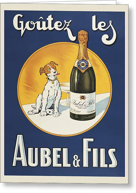 Aubel And Fils Greeting Card by Vintage Images