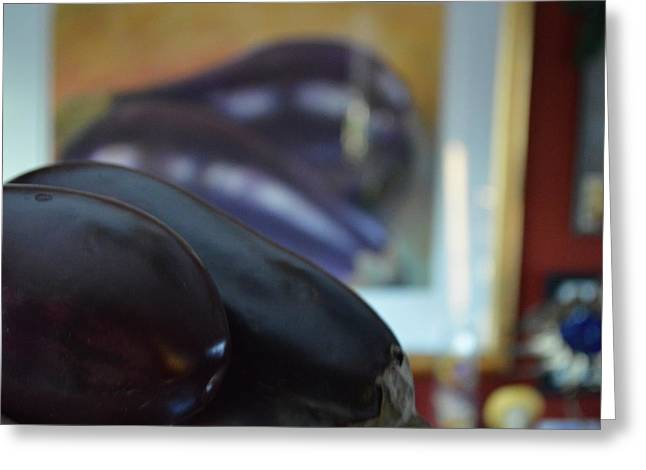 Greeting Card featuring the photograph Aubergine A Go Go  by Brian Boyle