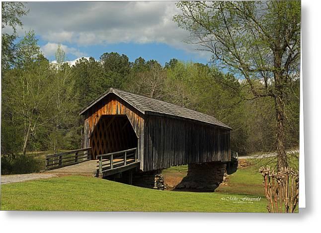 Auchumpkee Creek Covered Bridge Greeting Card