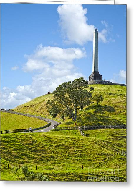 Auckland One Tree Hill Greeting Card by Colin and Linda McKie