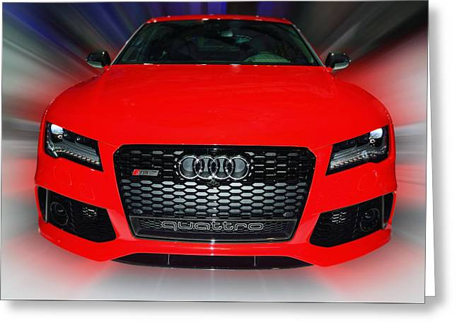Audi Quattro Rs7 2014 Greeting Card
