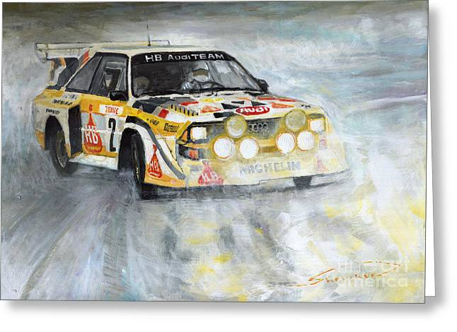 1985 Audi Quattro S1 Greeting Card by Yuriy Shevchuk