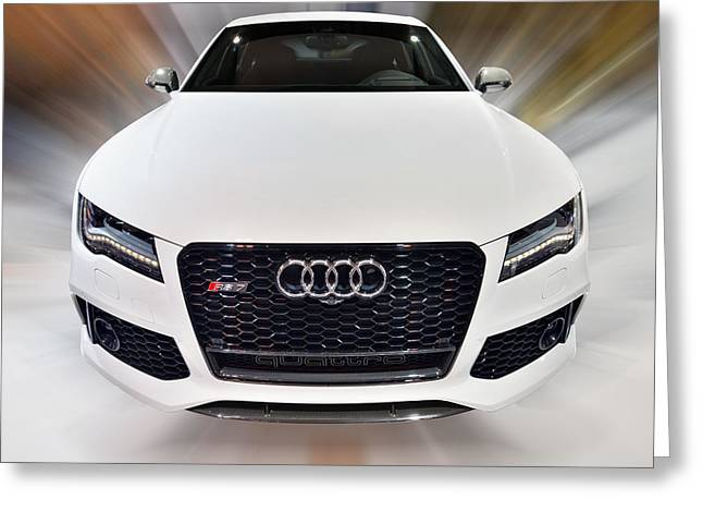 Audi  R S 7 Quattro 2014 Greeting Card