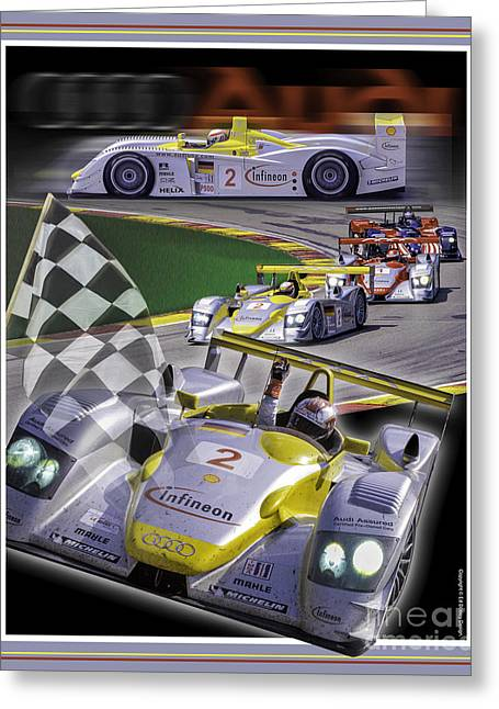 Greeting Card featuring the photograph Audi R8 2005 by Ed Dooley