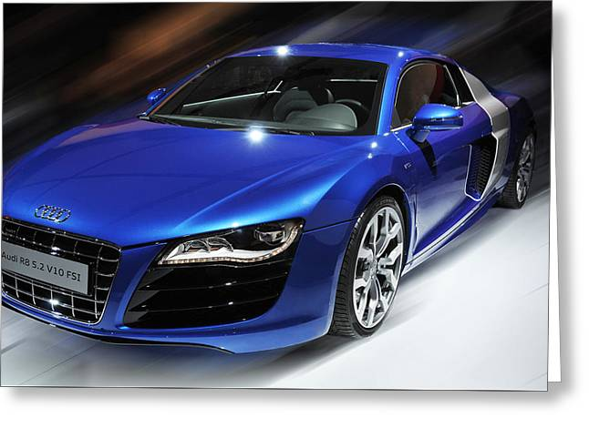 Audi R8 V10 Fsi Greeting Card