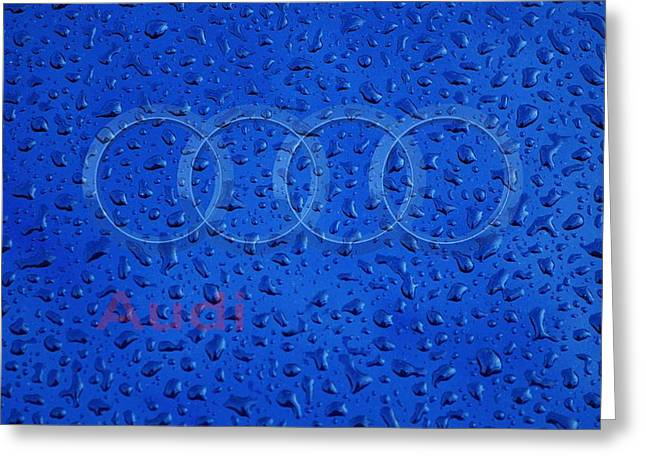 Audi Rainy Window Visual Art Greeting Card by Movie Poster Prints