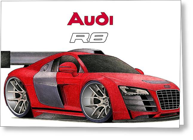 Audi Toon Greeting Card by Lyle Brown