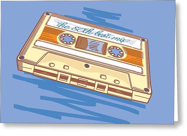 Audio Cassette Greeting Card