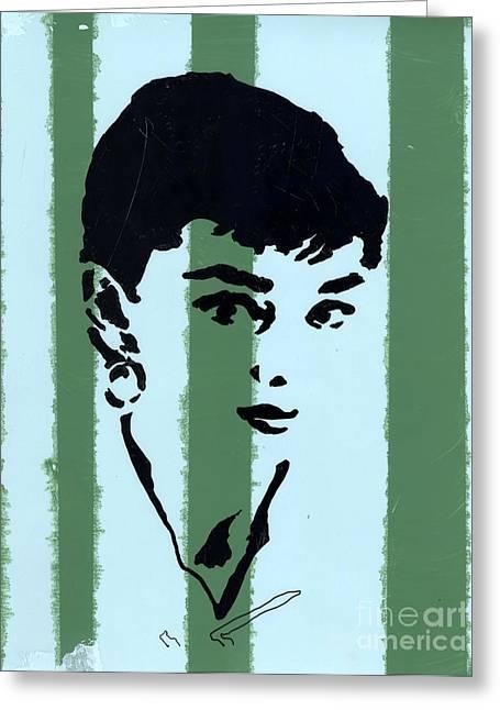 Audrey 7 Greeting Card by Jason Tricktop Matthews