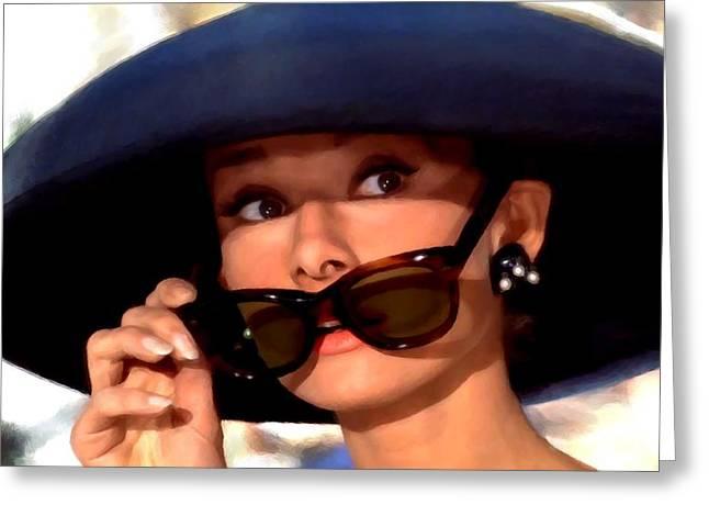 Audrey Hepburn @ Breakfast At Tiffany's Greeting Card